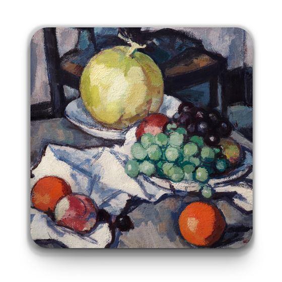 Samuel John Peploe 'Still Life with Melon and Grapes' coaster