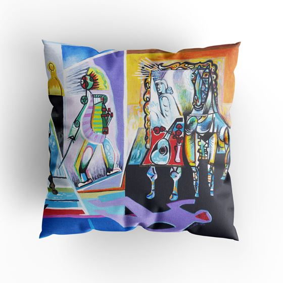 Les Drummond 'The Bull that Dreamed of Immortality' cushion