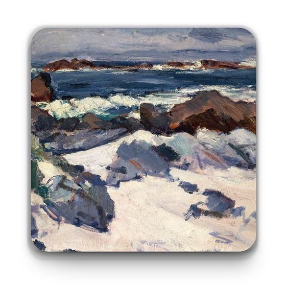 Samuel John Peploe 'A Rocky Shore, Iona' coaster