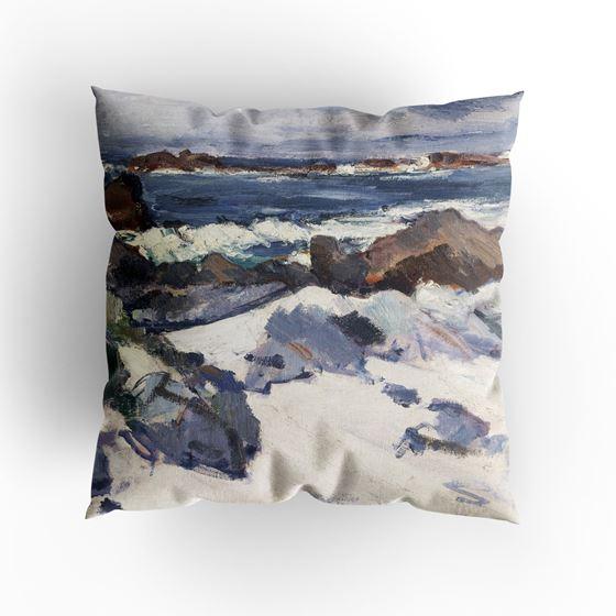 Samuel John Peploe 'A Rocky Shore, Iona' cushion