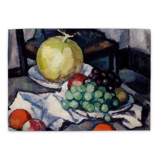 Samuel John Peploe 'Still Life with Melon and Grapes' tea towel