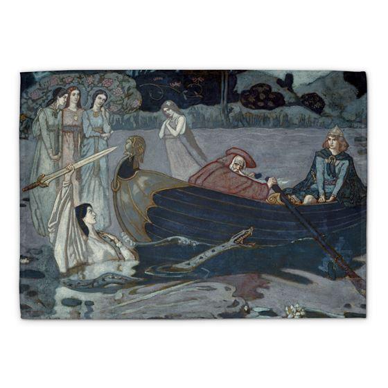 John Duncan 'The Taking of Excalibur' tea towel