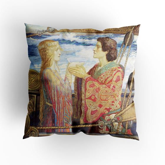 John Duncan 'Tristan and Isolde' cushion