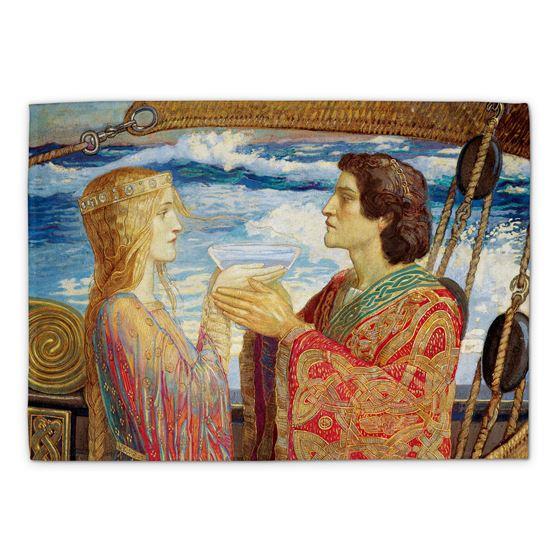 John Duncan 'Tristan and Isolde' tea towel