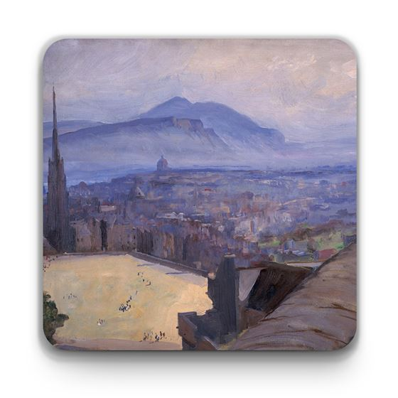 John Lavery 'View of Edinburgh from the Castle' coaster