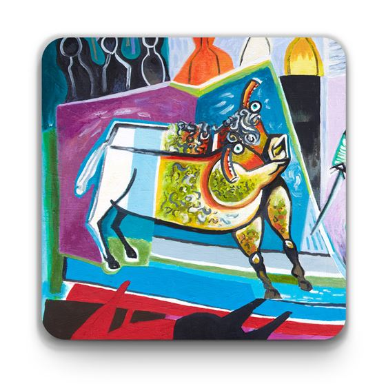 Les Drummond 'The Bull that Dreamed of Immortality' coaster