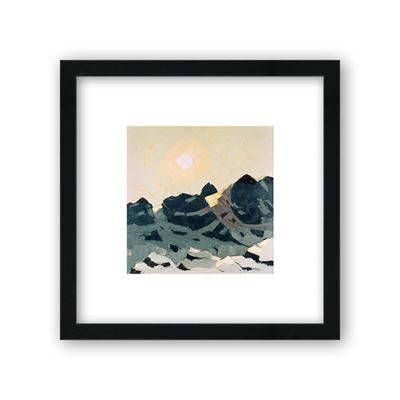 Mountain Landscape with High Sun - Curator`s Choice framed print
