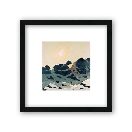 Mountain Landscape with High Sun