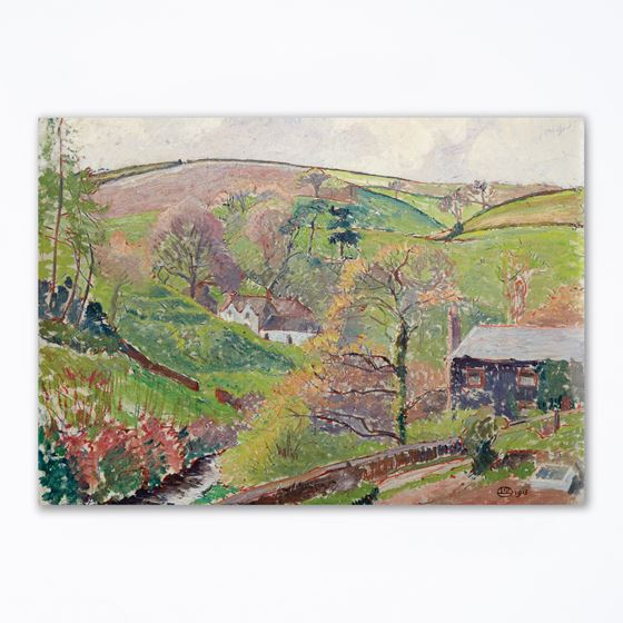 Lucien Pissarro 'Blackpool Valley, 1913' greetings card - A6