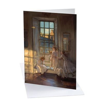 John Henry Lorimer 'The Flight of the Swallows' greetings card