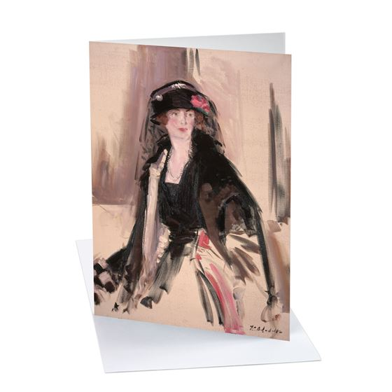 Francis Campbell Boileau Cadell 'Lady Lavery (1887–1935)' greetings card - A6