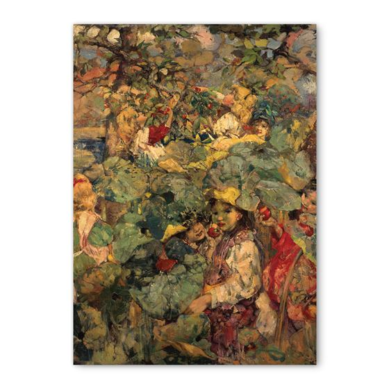 E. A. Hornel 'In the Orchard' greetings card - A6