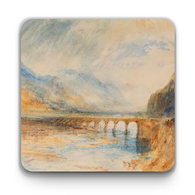 Joseph Mallord William Turner 'Bellinzona – The Bridge over Ticino' coaster