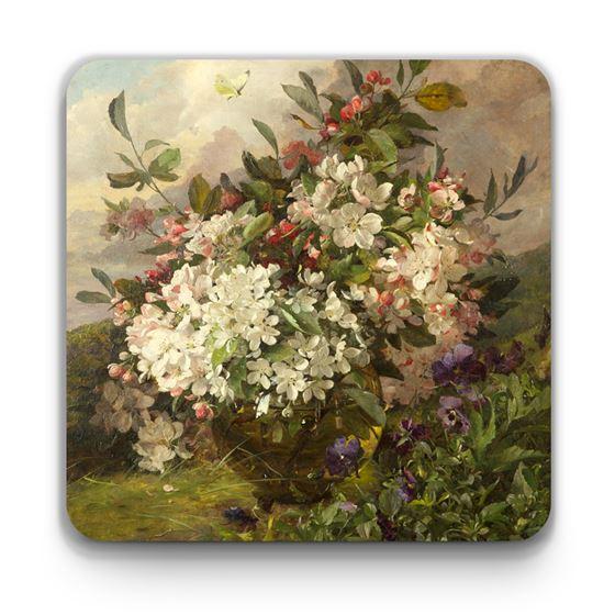 William Jabez Muckley 'Apple Blossom' coaster