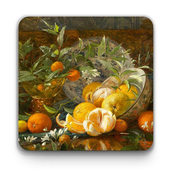William Jabez Muckley 'Oranges' coaster