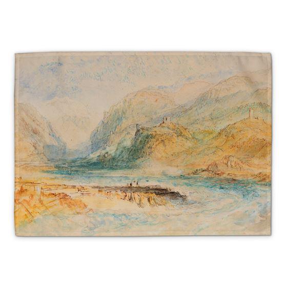 J. M. W. Turner 'A Swiss Alpine Valley' tea towel