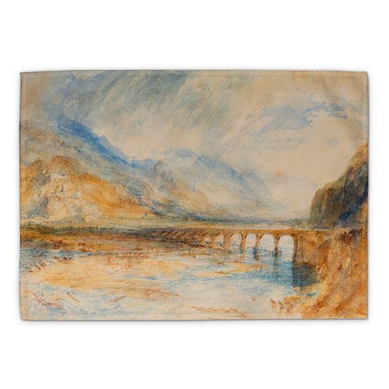 J. M. W. Turner 'Bellinzona – The Bridge over Ticino' tea towel