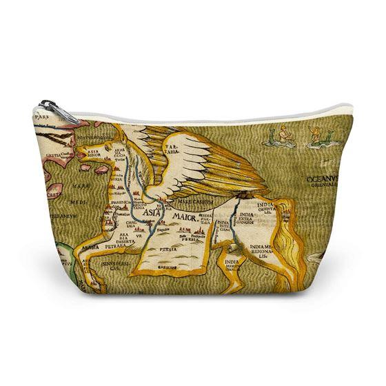 Heinrich Bünting 'Asia Secunda Pars Terrae informa Pegasi (Asia in the Form of Pegasus)' make-up bag