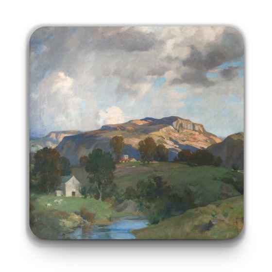 James Whitelaw Hamilton 'The Valley of the Lune, Lancashire' coaster