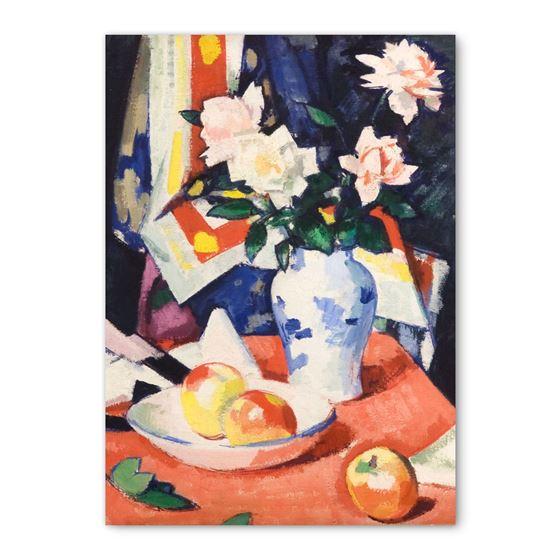 Samuel John Peploe 'Roses and Still Life' greetings card - A6