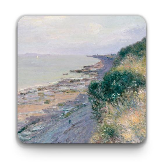 Alfred Sisley 'The Cliff at Penarth, Evening, Low Tide' coaster