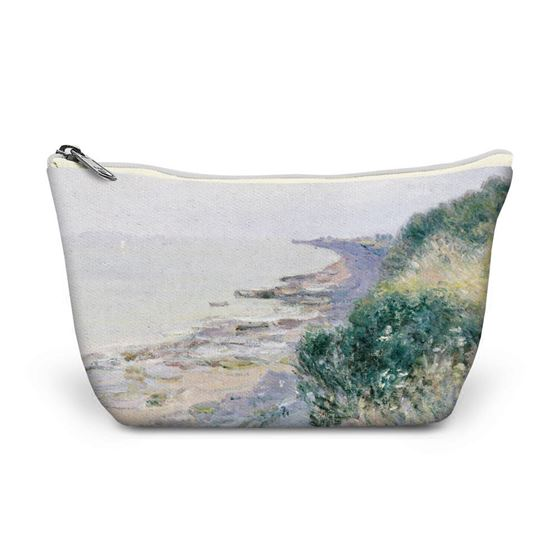 Alfred Sisley 'The Cliff at Penarth, Evening, Low Tide' make-up bag
