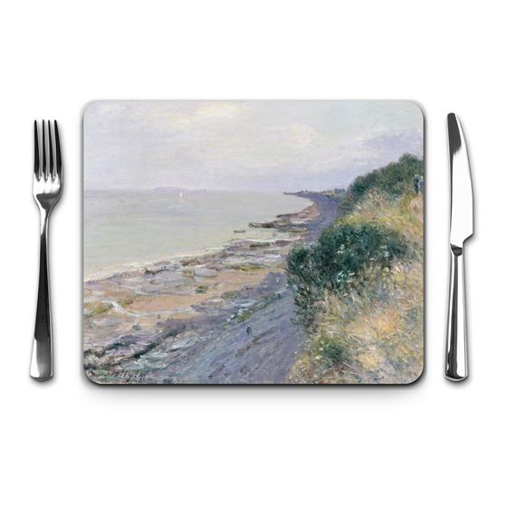 Alfred Sisley 'The Cliff at Penarth, Evening, Low Tide' placemat