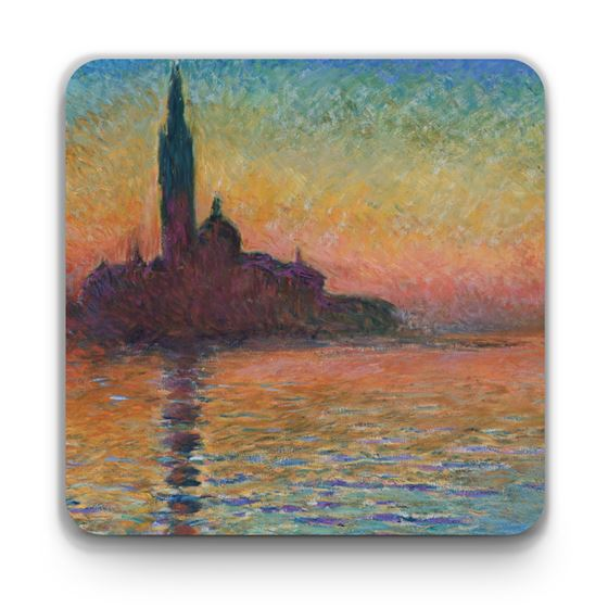 Claude Monet 'San Giorgio Maggiore by Twilight' coaster