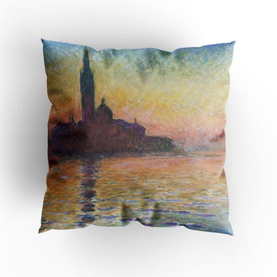 Claude Monet 'San Giorgio Maggiore by Twilight' cushion
