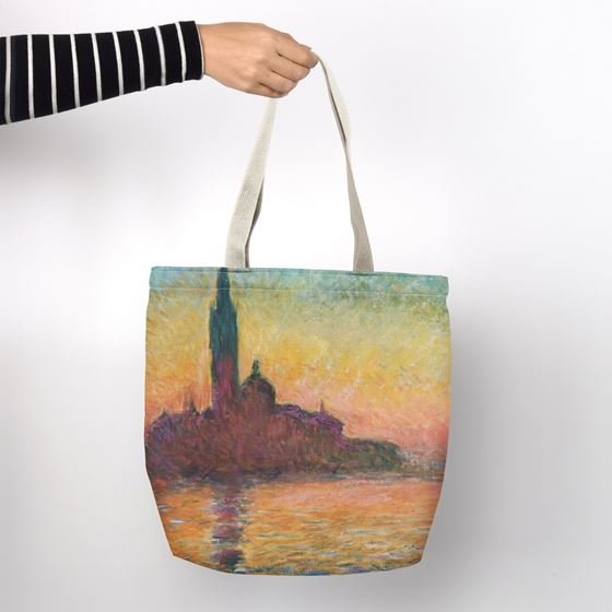 Claude Monet 'San Giorgio Maggiore by Twilight' shopper