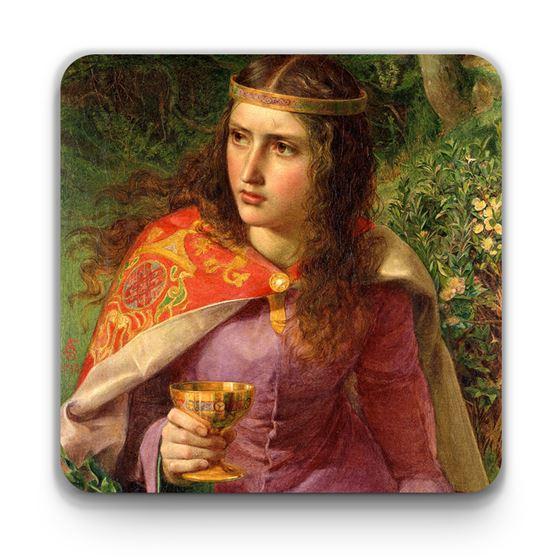 Frederick Sandys 'Queen Eleanor (c.1122–1204)' coaster