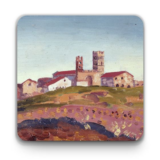 James Dickson Innes 'The Cathedral at Elne' coaster