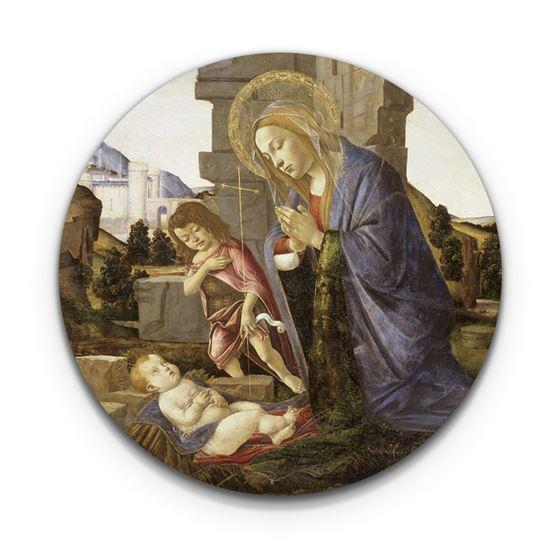 Sandro Botticelli 'Virgin Adoring the Child with the Young Saint John' coaster