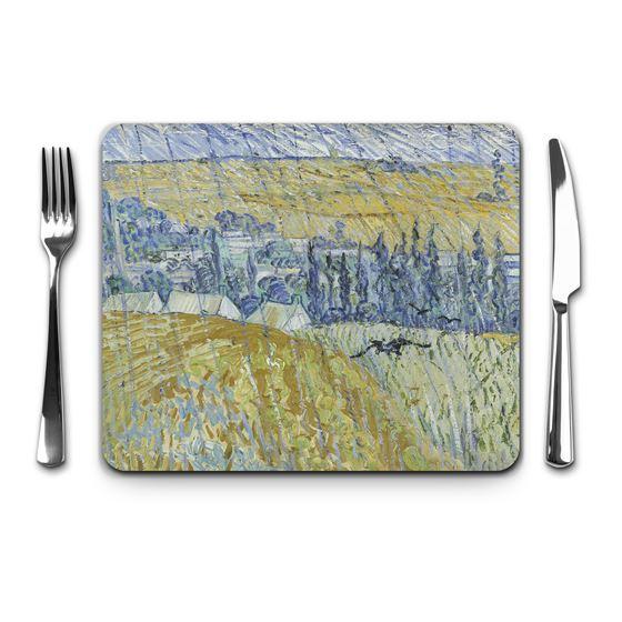 Vincent van Gogh 'Rain, Auvers' placemat