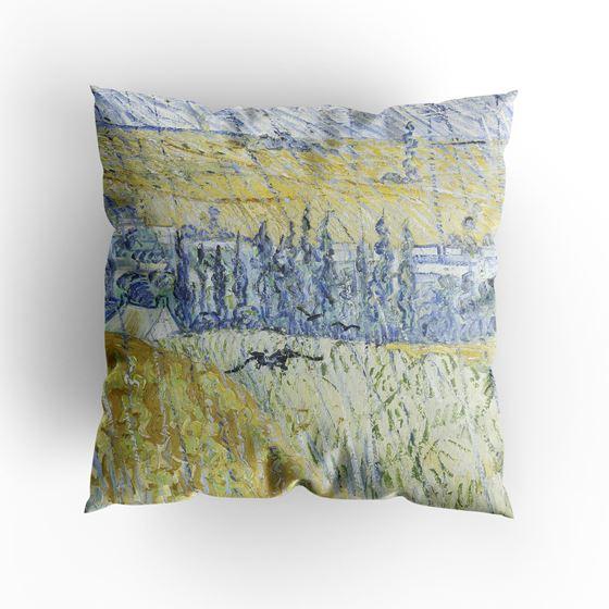 Vincent van Gogh 'Rain, Auvers' cushion
