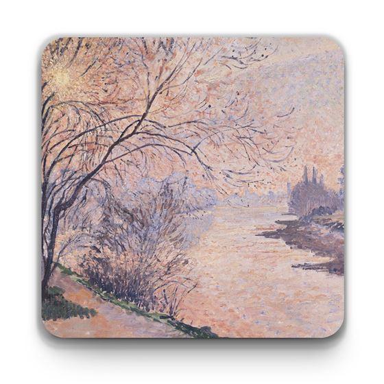 Lucien Pissarro 'November Sunset on the Thames, Kew' coaster