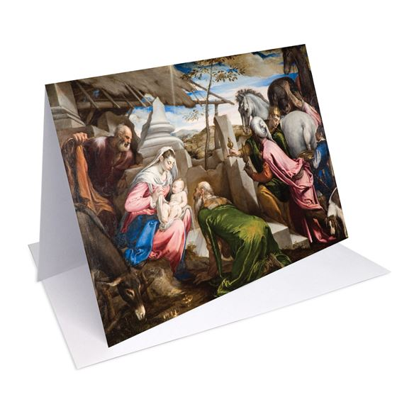 Jacopo Bassano the elder 'The Adoration of the Magi' greetings card - A6