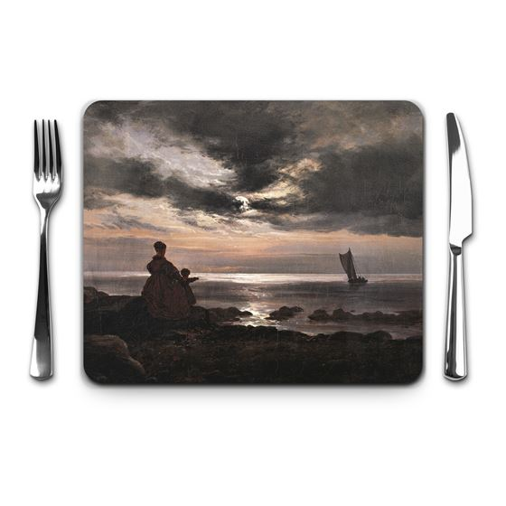 Johan Christian Clausen Dahl 'Mother and Child by the Sea' placemat