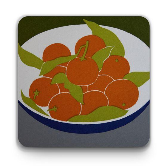 Moira Macgregor 'Oranges in a Bowl' coaster