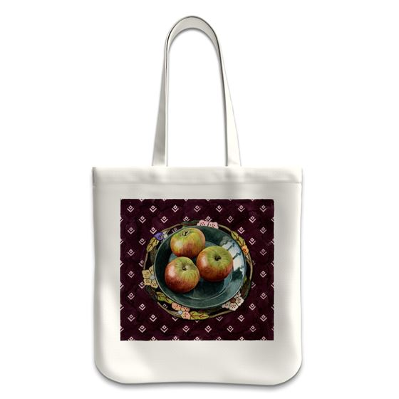 Moira Macgregor 'Plate with Apples' tote bag