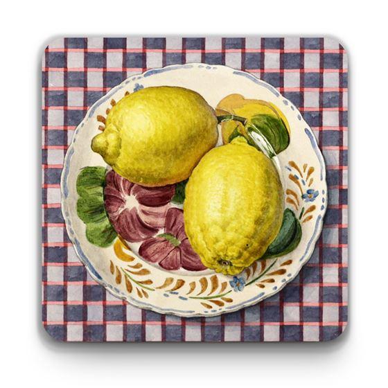 Moira Macgregor 'Plate with Lemons' coaster