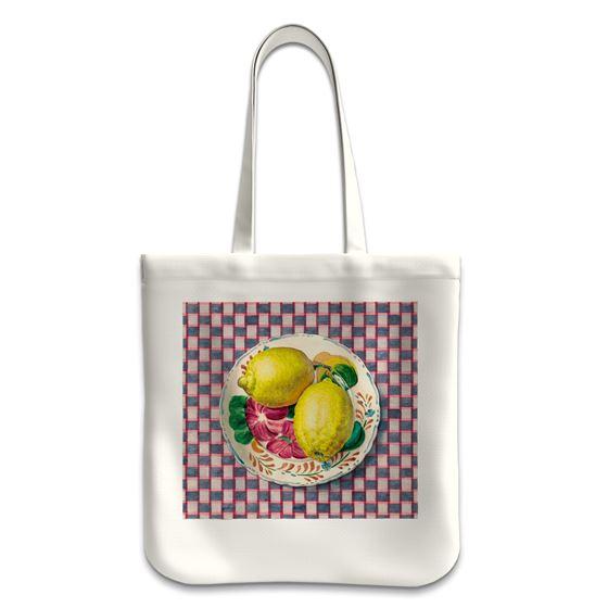 Moira Macgregor 'Plate with Lemons' tote bag
