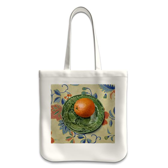 Moira Macgregor 'Plate with Orange' tote bag