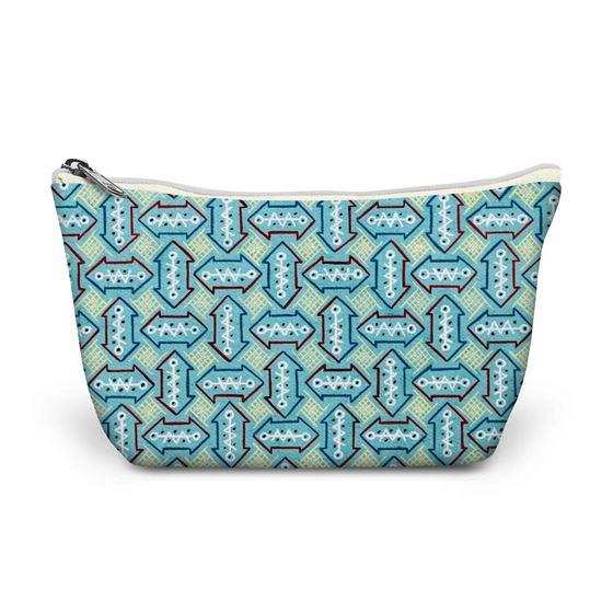 Kathleen Mowat 'Design for textile' (arrows) make-up bag