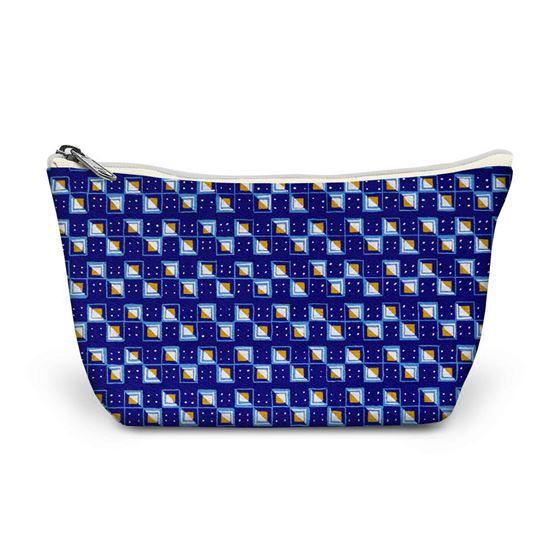 Kathleen Mowat 'Design for textile' (squares) make-up bag