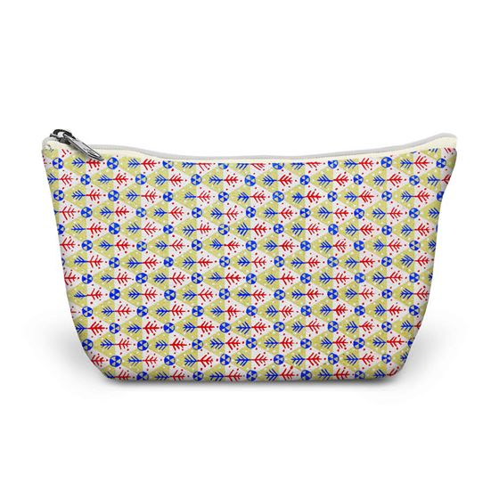 Kathleen Mowat 'Design for textile' (triangles) make-up bag