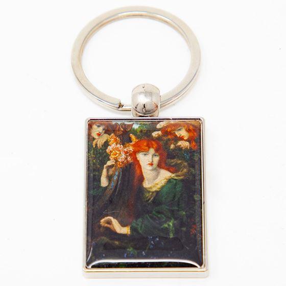 Dante Gabriel Rossetti 'La Ghirlandata' keyring
