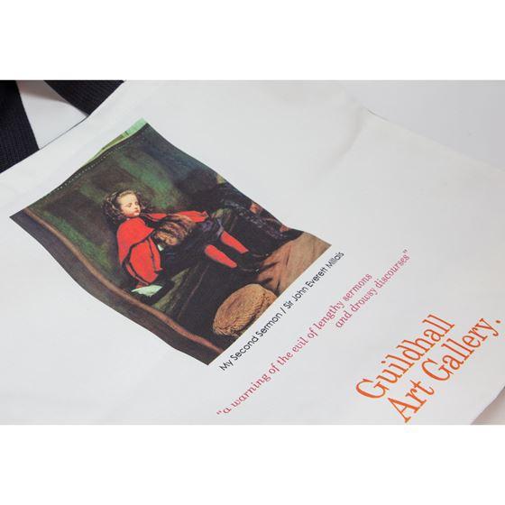 John Everett Millais 'My Second Sermon' tote bag