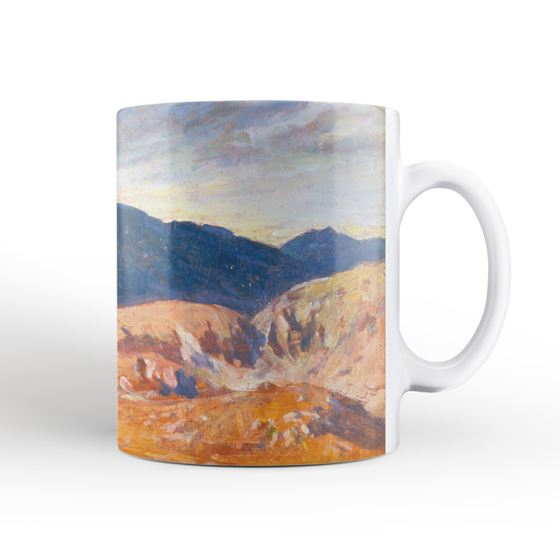 Christopher Williams 'Sunset in the Welsh Hills' mug and coaster