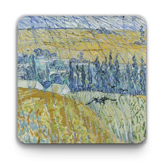 Vincent van Gogh 'Rain, Auvers' mug and coaster